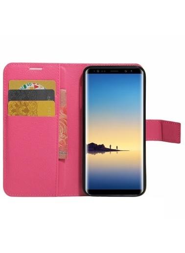Microsonic Cüzdanlı Deri Samsung Galaxy Note 8 Kılıf  Pembe